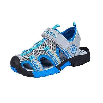 8ef09028b99 Enfant Garçon Fille Été Sandales de Marche Extérieur Plates Souple Semelle  Velcro Chaussures Sport Bout Fermé