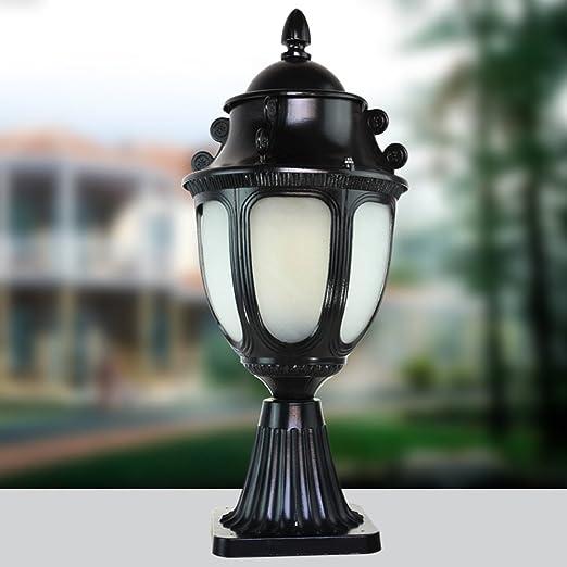 KMYX Lámpara de Pilar Muro Exterior Exterior Patio Puerta Luz ...