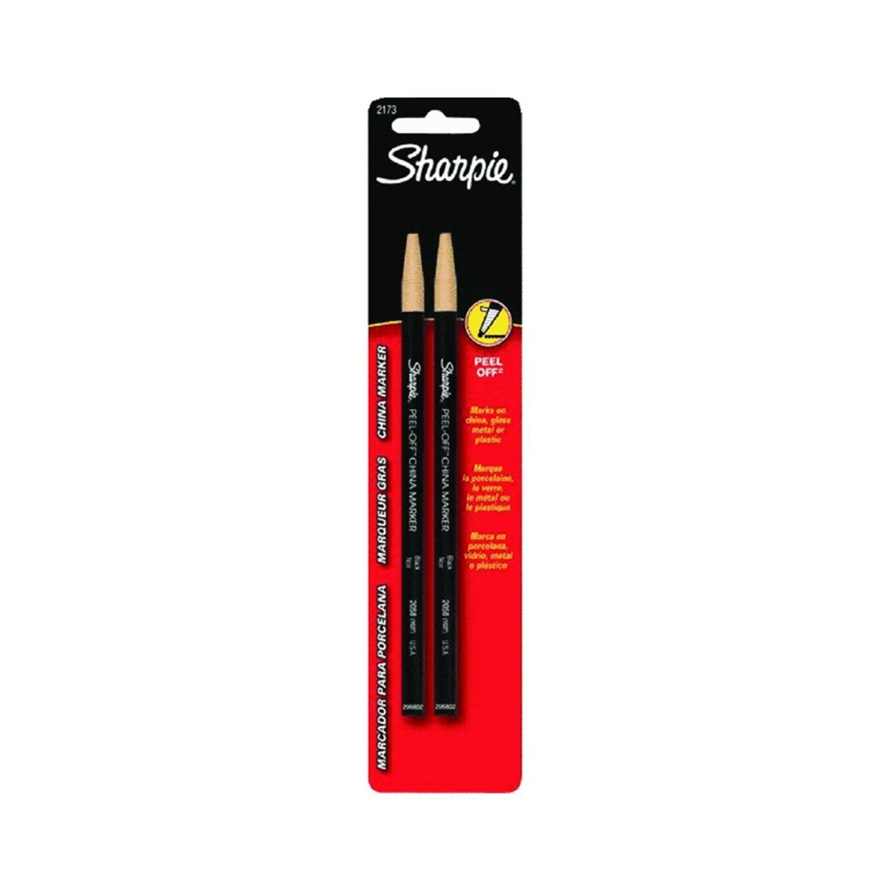 Sharpie 2173PP Peel-Off China Markers, 4 Black Markers UnAssigned BC28217