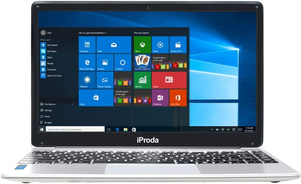 iProda Laptop, 14.1 Inch Notebook (Intel Core i3-6157U 2.4GHz, 8GB RAM, 256GB SSD, Windows 10 Professional) with 1080P FHD Display, Lightweight, Webcam, HDMI, WiFi, Bluetooth, for Work & Entertainment