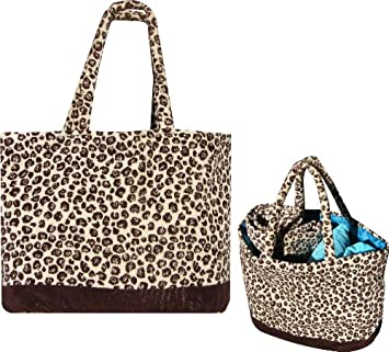 Leopard beach bag: Amazon.co.uk: Garden & Outdoors