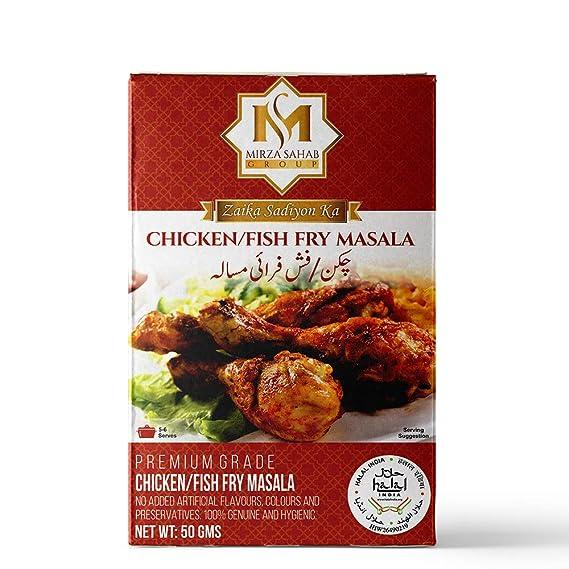 Mirza Sahab Chicken/Fish Fry Masala 50g (Pack of 6 x 50g Boxes)