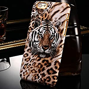 "Sexy Leopard & Tiger Skin PU Leather Case For iPhone 6 6G 4.7"" Inch Fashion Hard PC Case For IPHONE6 Protective Phone Back --- Color:Leopard Skin"