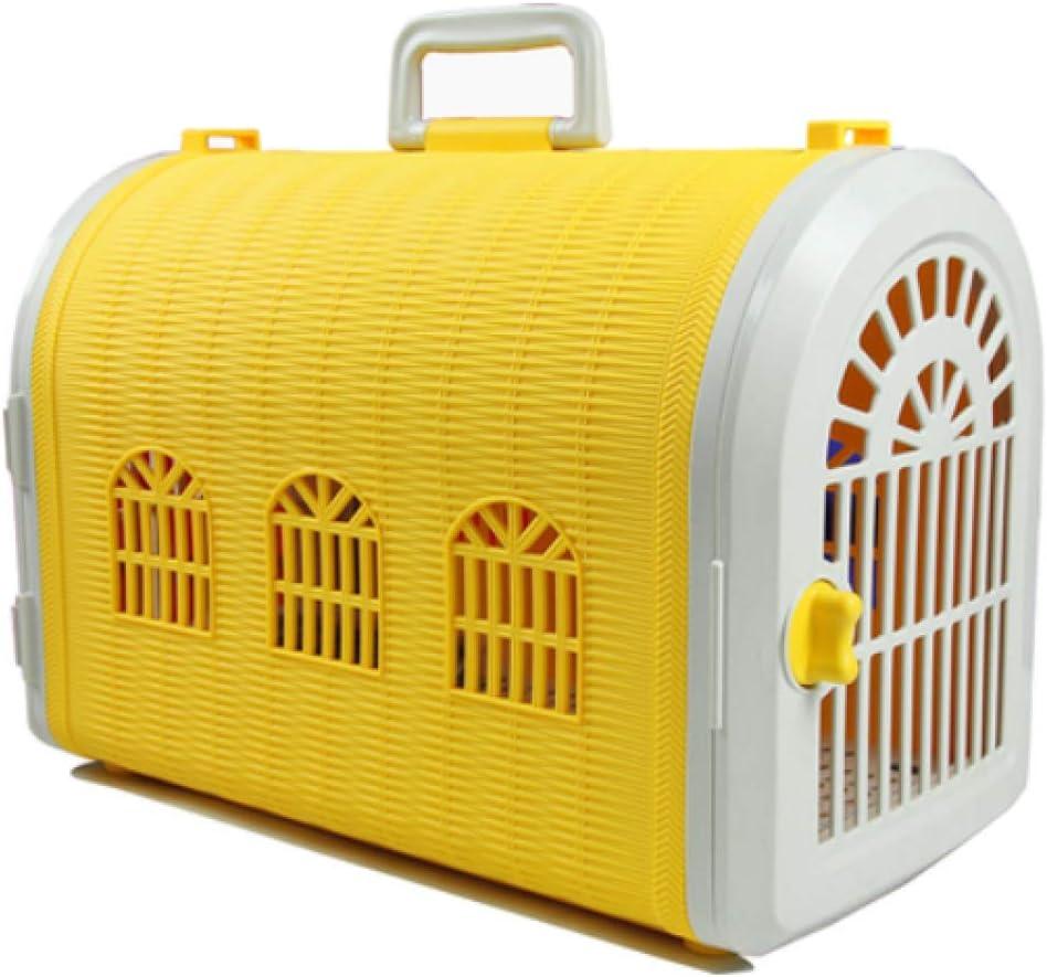 FENG Caja De Transporte para Mascotas Jaula Portátil Jaula para Mascotas Portátil Caja De Aire para Mascotas Doble Puerta Conejo Perro Gato Pájaro Pájaro Maleta 44Cm * 22Cm * 27Cm
