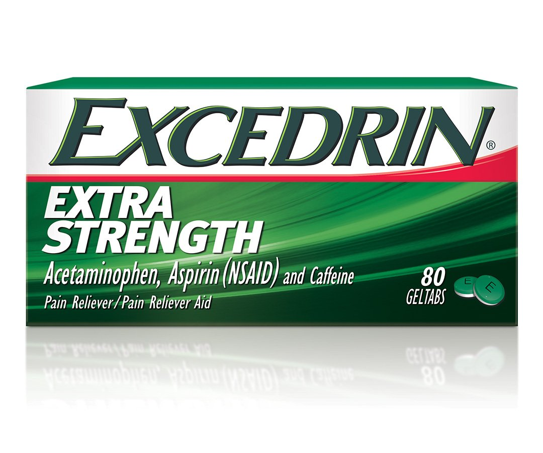 Excedrin Extra Strength Pain Relief Gel Tabs 80 count for Headache Relief