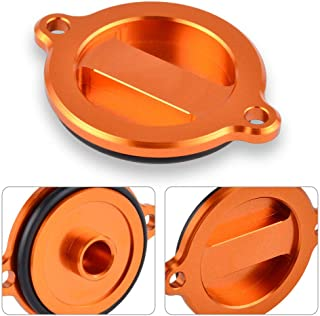 Motorcycle CNC Orange Engine Oil Filter Cover Cap For KTM DUKE 390 2014-15 DUKE 125/200 2013-14 690 Duke 2008-14 990 Adventure R Baja 690 Supermoto SMC Enduro R