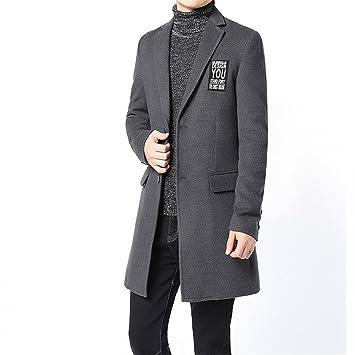Chaqueta de lana hombres abrigo de invierno joven coreano en ...