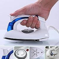 DHANIM® Travel Folding Handel Portable Powerful Mini Electrical Steam Iron Press,White