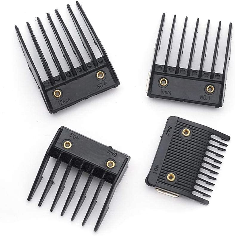 xlcukx perfecti 4 Piezas Juego De Peine Guía De Cortapelos Universal Hair Clipper Limit Peine Guide Attachment Size Barber Replacement Exceptional