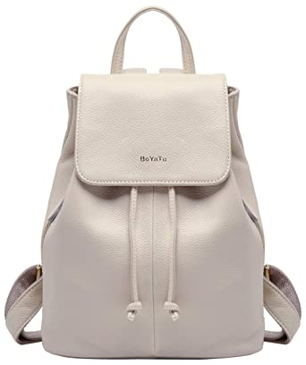 30318599bb0b Amazon.com  BOYATU Genuine Leather Mini Backpacks for Women Elegant Ladies  Purse Fashion Bag  Boyatu