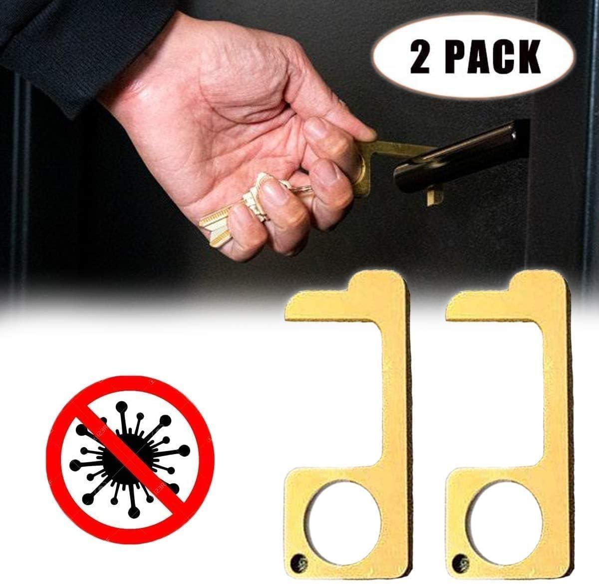 Handheld Non-Contact Door Opener Door Handle for Push The Elevator Button Open 3 Pcs Antiskid Design EDC Door Opener Tool Simple Hand Door Opener /& Stylus Environmental Protection