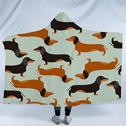 Qinddoo coperta con cappuccio in microfibra cartoon dog per bambini