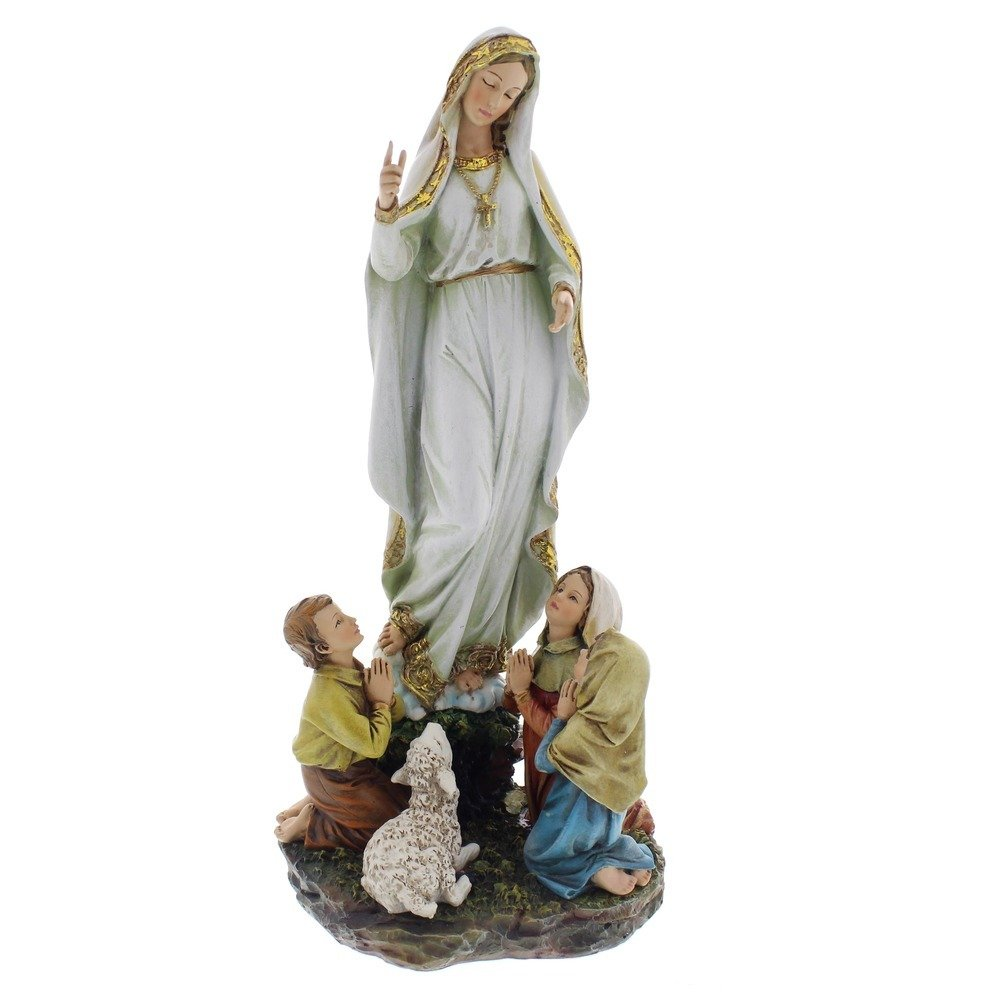 Our Lady of Fatima Children 12 Inch Resin Stone Indoor Outdoor Garden Statue by Roman