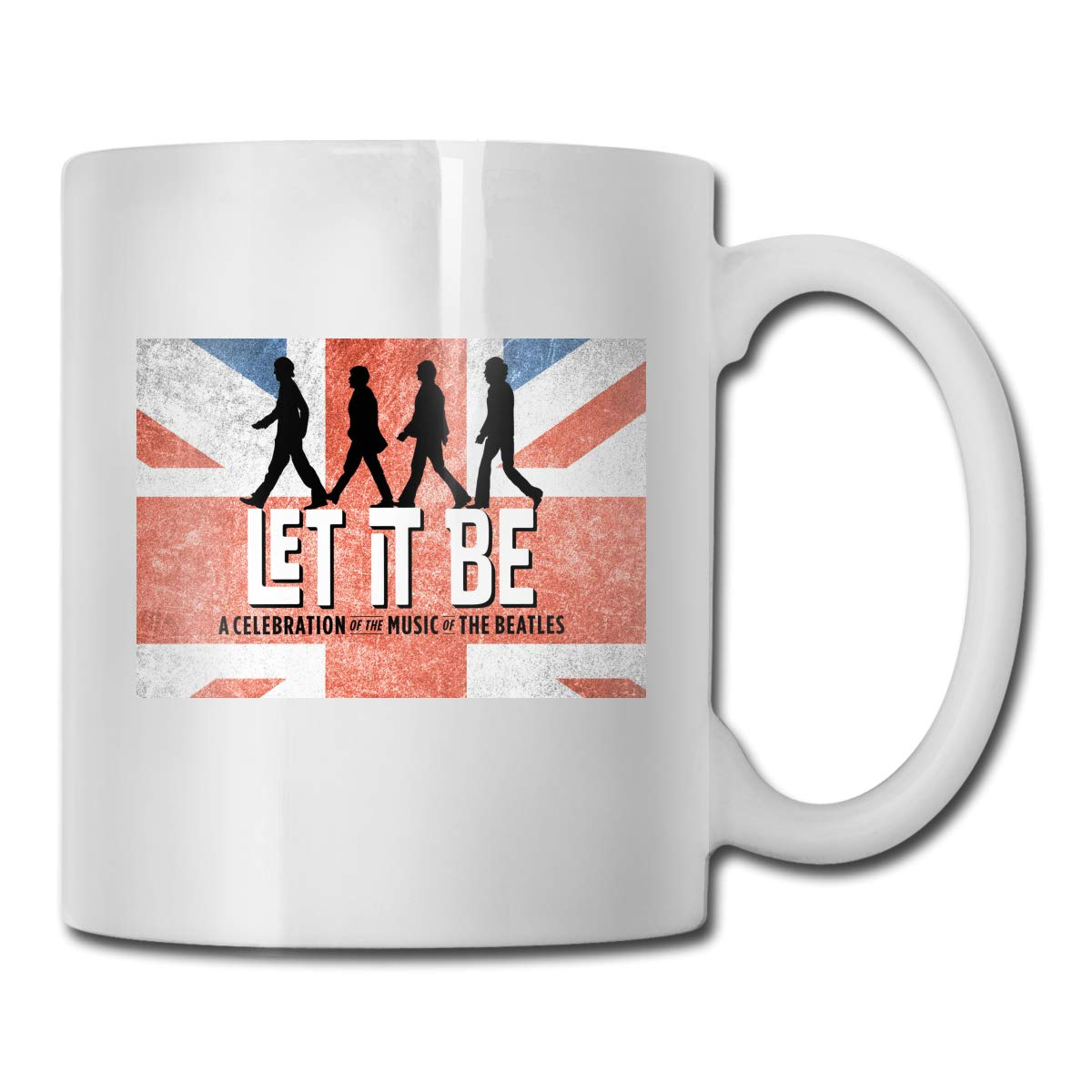 Office Coffee Cup TheBeatlesLetItBe Geblackus 14.72 OZ Capacity Mug is Perfect for CoffeeWhite