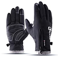 Flaydigo Men and Women Waterproof & Windproof Gloves Tochscreen Gloves for Cycling Riding Running Skiing & Outdoor Sports