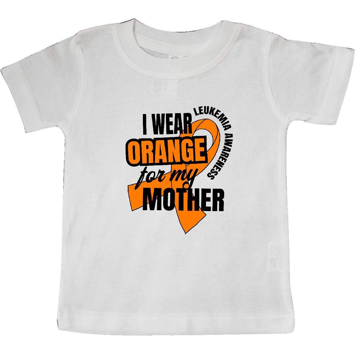 inktastic I Wear Orange for My Mother Leukemia Awareness Baby T-Shirt