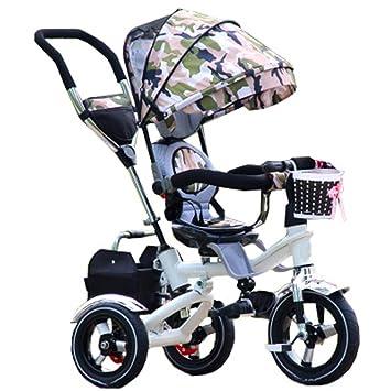 QWM-Las bicicletas infantiles para bebés Niño Bajo techo, en exteriores Triciclo pequeño Bicicleta