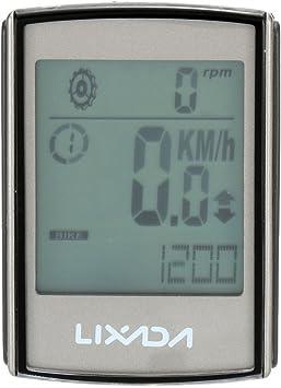 Lixada 3 en 1 Multifuncional LCD Ciclocomputadores de Cadencia ...