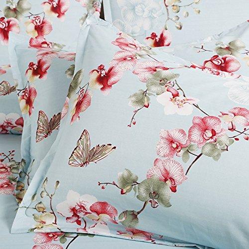 Vaulia Lightweight Microfiber Duvet Cover Set Floral