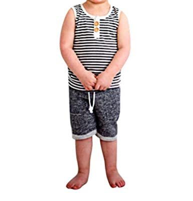 Casual Newborn Baby Boy T Shirt Tops Vest+Shorts Pants Summer Outfits Clothes UK