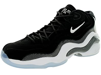 Nike Mens Air Zoom Flight 96 Basketball Shoe Black/White 317980-002 Size 8