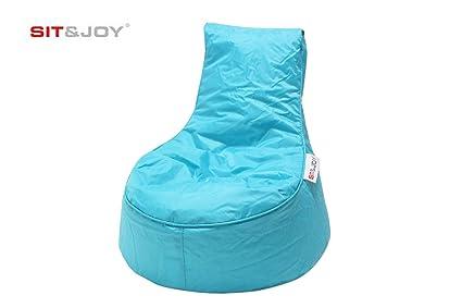 Sit And Joy Childrens Chair.Sit And Joy Mini Balina Kids Beanbag Chair Aqua 50 X 63 Cm