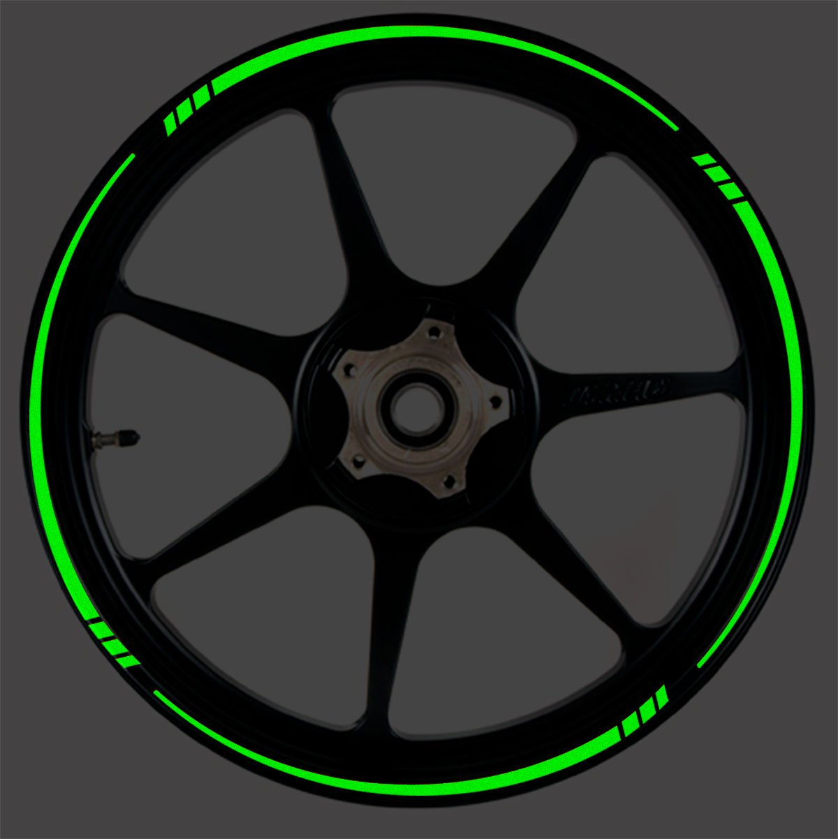 Dark Green Reflective Speed Tapered Wheel Rim Tape