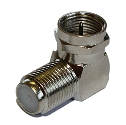 MyCableMart Coax/F-Type Right Angle Adapter HIGH Speed 2.5Ghz, Nickel Plated