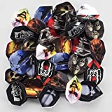 30 x HORROR DART FLIGHTS, MIXED COMPANIES, STANDARD SHAPE, 10 SETS by PerfectDarts