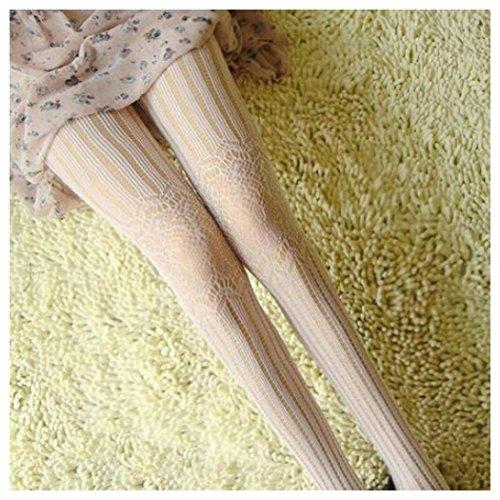 Women Fishnet Socks, Inkach Fashion Girls Sock Net Fish-net Bodystockings Pattern Pantyhose Tights Stockings White