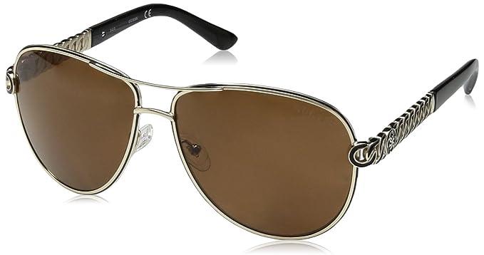 5b0eb802e73 Amazon.com  GUESS Women s Metal Aviator Polarized Sunglasses