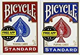#1: Bicycle Poker Size Standard Index Playing Cards (2-Pack) [Colors May Vary: Red, Blue or Black]