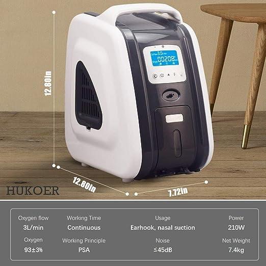 Generador de concentrador de oxígeno portátil Mejor 1-5L / min ...