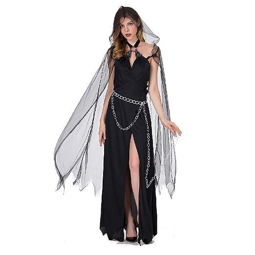 Pkfinrd Traje de Bruja de Halloween Cosplay, Vestido de Bruja ...