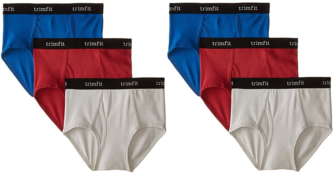 Trimfit Boys 100/% Combed Cotton Briefs Navy//Red//Gray XS 2x84001-845-XS 2-4 Pack of 6