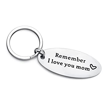 Amazon.com: Día de la Madre Cumpleaños keychain- Remember I ...