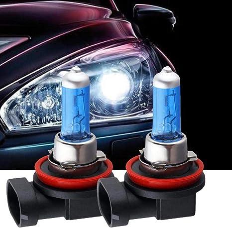 2 x H1 DC 12V 55W Halogen Headlight Car Driving Fog Light Lamp Bulb 6000K