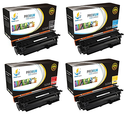 Mfp Printer Stand (Catch Supplies 507X 507A 4 Pack Premium Replacement Toner Cartridge Compatible with HP LaserJet 500 M551dn, MFP M575dn, Pro M570dn Printers |CE400X Black, CE401A Cyan, CE402A Yellow, CE403A Magenta|)