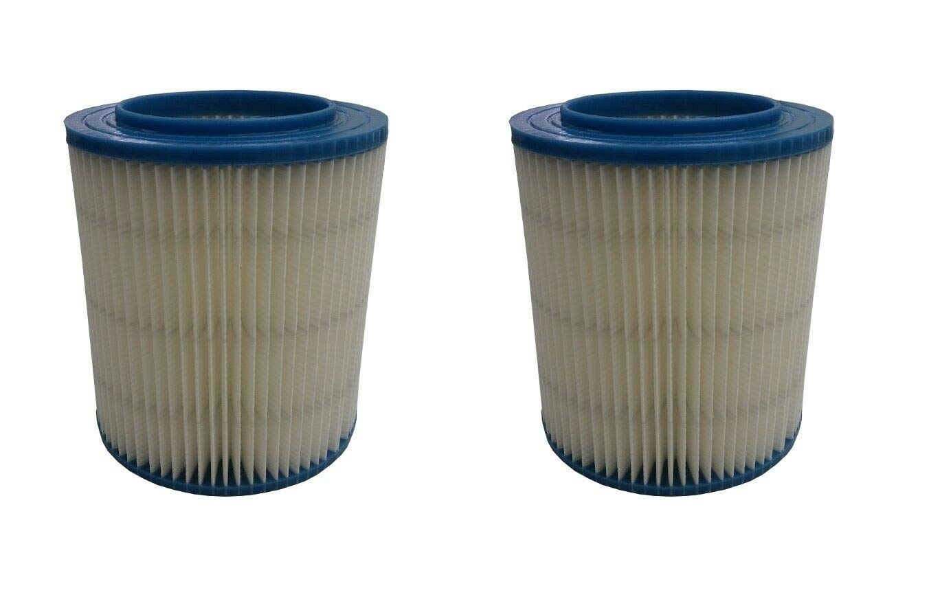 2 Filter for Craftsman 17907 Wet Dry Vac Red Stripe Fine Dust Ridgid Replacement