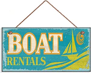 INNAPER Boat Rentals Sign, Weathered Beach Sign, 5
