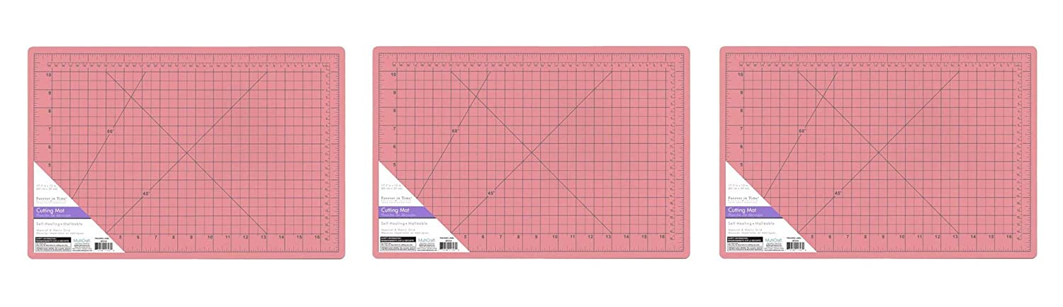 Scrappin' Gear Self-Healing A3 Cutting Mat with Grids, 12-Inch x 17.75-Inch Multicraft Imports ST216