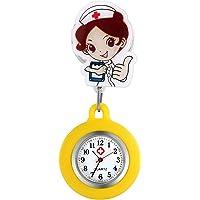 Relojes de Enfermera retráctiles con Clip para Solapa