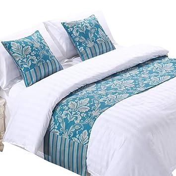 Amazon.com: yih decorativo camino de cama y funda de cojín ...