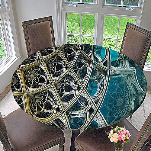 Man 3 Placemat Spider (Mikihome Elasticized Table Cover Decor Vintage Inspired Floral Metal Dimension Figures Futuristic Print with Free 3D Glasses Machine Washable 55