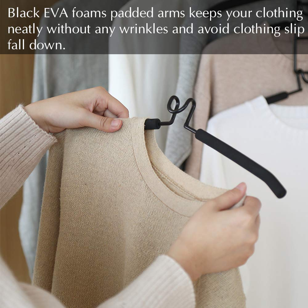 5 in 1 Anti-Slip Sponge Metal Clothes Rack Multifunctional Closet Hanger Space Saving Organizer for Jacket Coat Sweater Skirt Trousers Shirt T-Shirt PUPOUSE Multi Layers Clothes Hangers