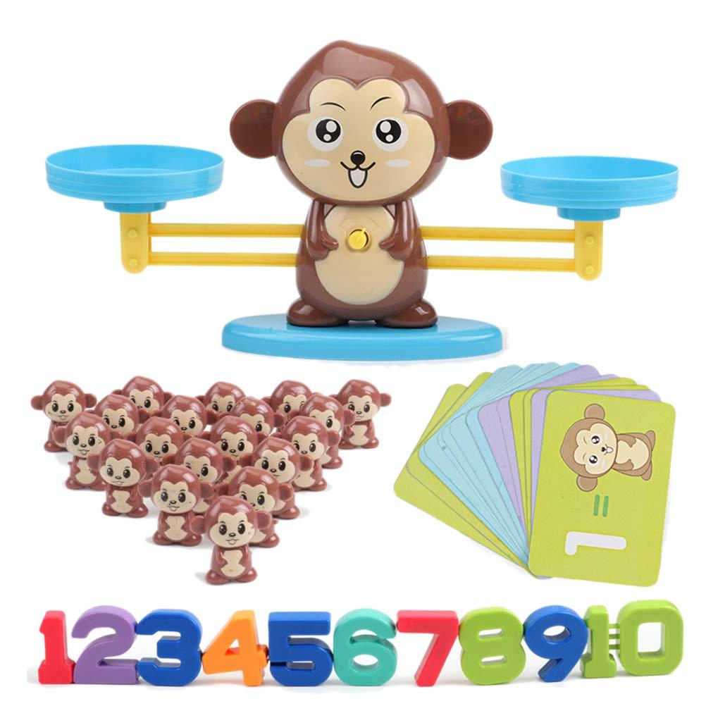 Lingua Tedesca Gioco educativo per Bambini Monkey Math Heylas Mathep/ädagogische Spielwaren der Affenbalance