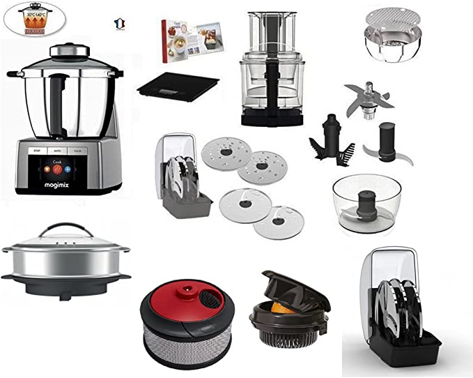 Magimix Cook Expert cromo con opzional Color 1) olla X Cocina a vapore- XXL 2) Zumos o centrifugador 3) Exprimidor 4) Cocina creativa con libro de recetas en italiano: Amazon.es: Hogar