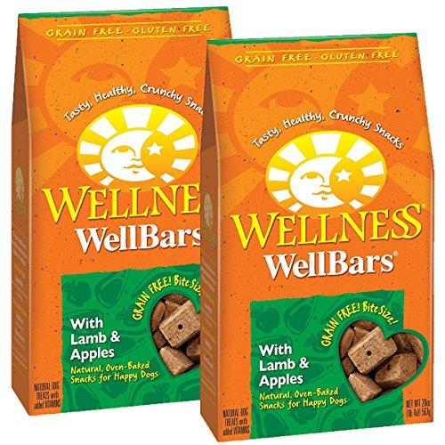 Wellness Natural WellBars Crunchy Dog Treats Lamb Apples, 20-Ounce Bag 2 Pack