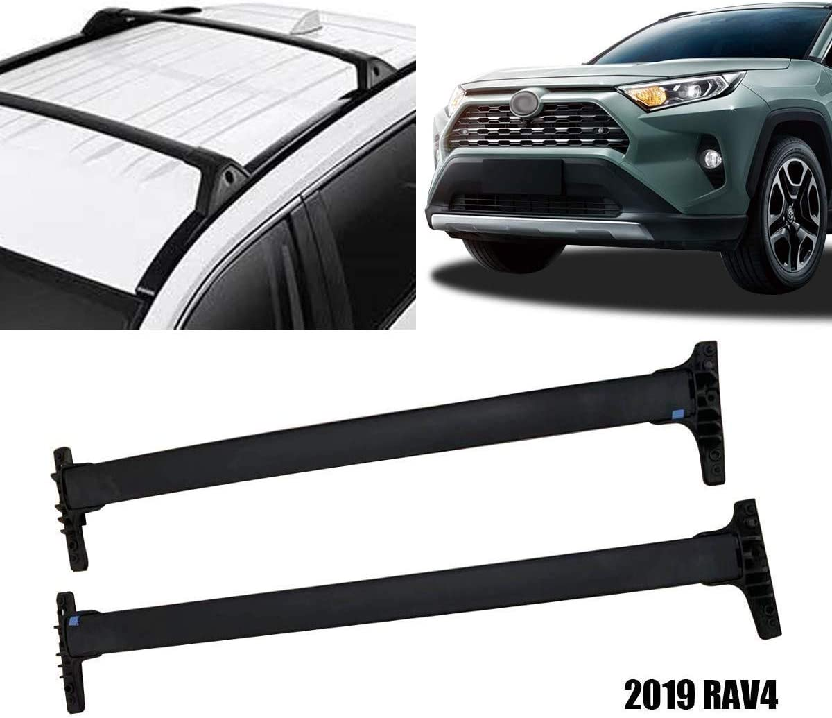 YUZHONGTIAN 2019 2020 for Toyota RAV4 Car Exterior OEM Style Top Roof Rack Side Rails Luggage Carrier