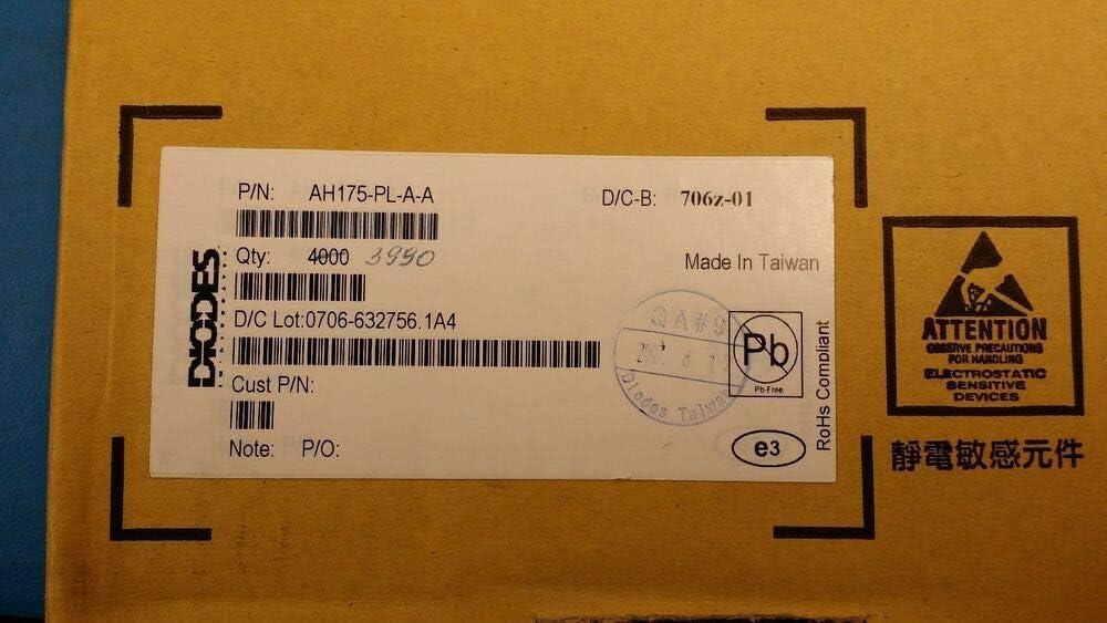 Diodes Inc AH175-PL-A-A Magnetic Switch Latch 3SIP ROHS 100 PCS